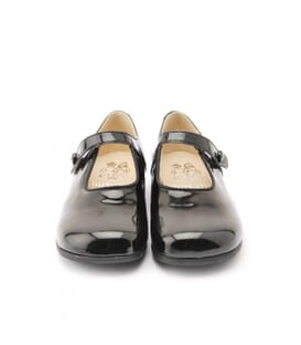 Start Rite Kate, black patent ballerinas for girls