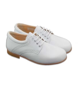 Boni Armand – white ceremony shoes for boys