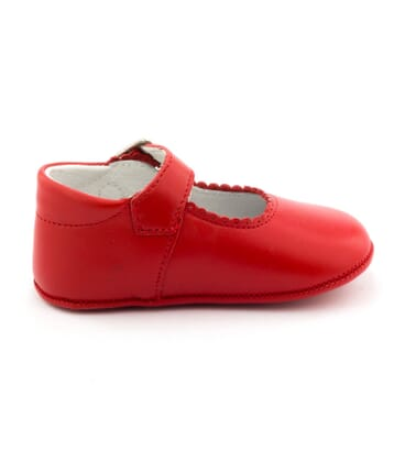 Boni Alix - Red Leather Girls Pre-walkers -