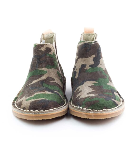 Boni Camouflage - suede boys boots -