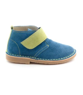 Boni Ewa - blue leather velcro boys' shoe
