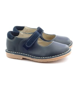 Boni Emilie - blue leather velcro girls' shoes