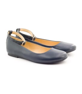 Boni Marine - Navy blue ballerinas for girls