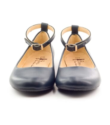 Boni Marine - Navy blue ballerinas for girls -