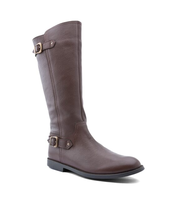 Start Rite Cavaletti - Leather Girls Zip-up Boots