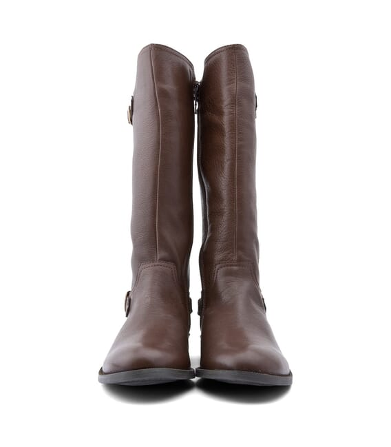 Start Rite Cavaletti - Leather Girls Zip-up Boots -