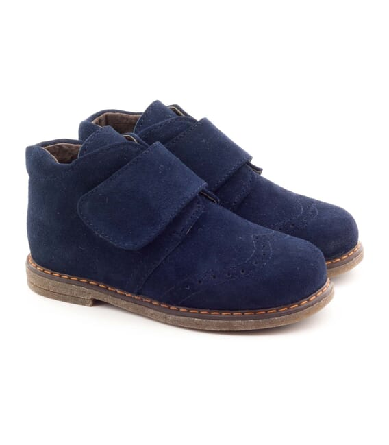 Boni Mini Albert, boys first step suede ankle boots. -