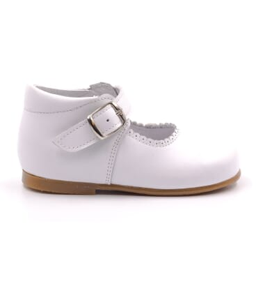 Boni New Isabelle - chaussure bebe fille blanche