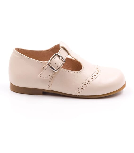 Boni César - Leather Buckle First Walking Shoes - white