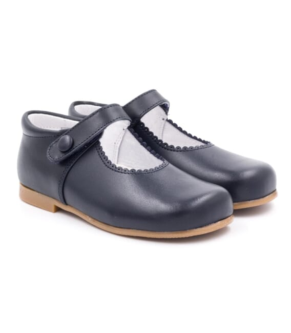 Boni Victoria - Leather Girls Riptape Classic Shoes