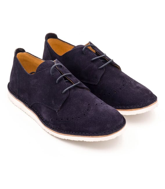 Boni Hugo - navy blue suede boys' shoe