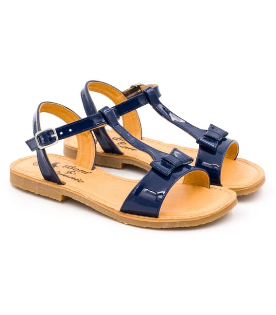 Boni Blanca II - patent navy blue girls sandals