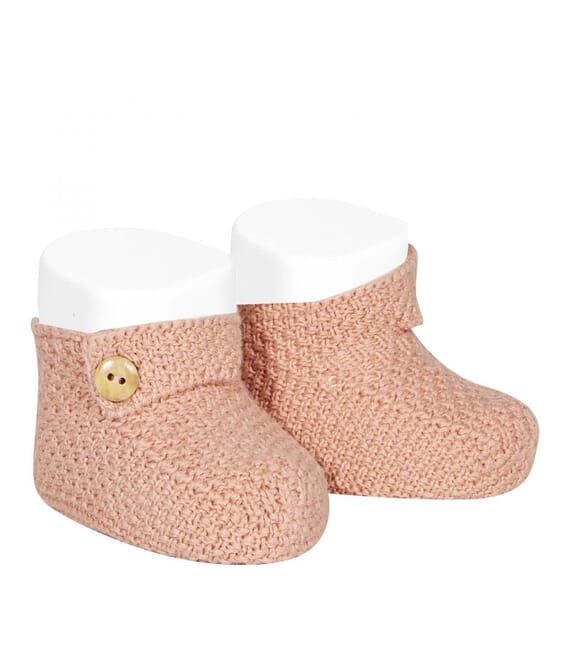 CONDOR - Mottled cotton baby booties