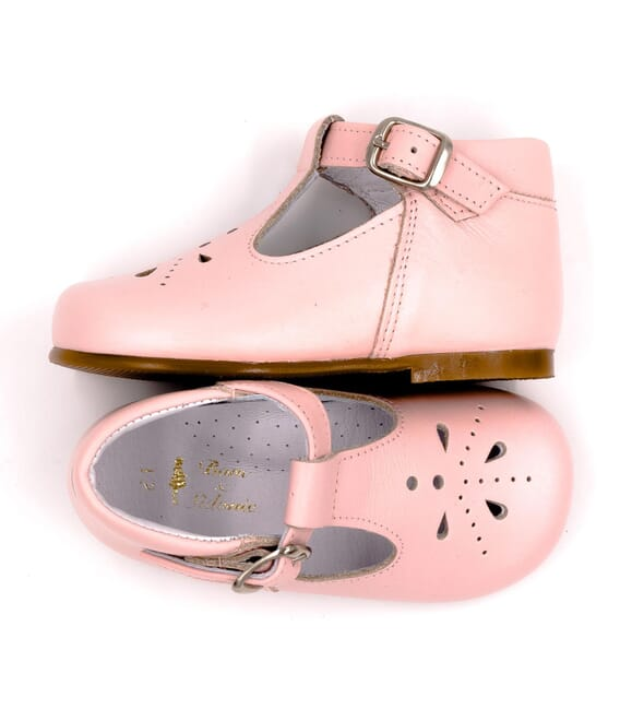 Boni Carol - Leather Buckle First Walking Shoes
