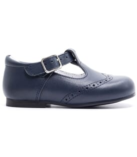 Boni César - Leather Buckle First Walking Shoes